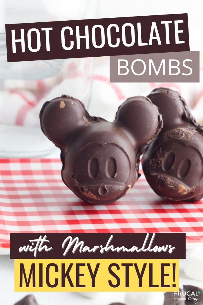 Hot Chocolate Bombs with Marshmallows - Mickey Mouse Disney Dessert