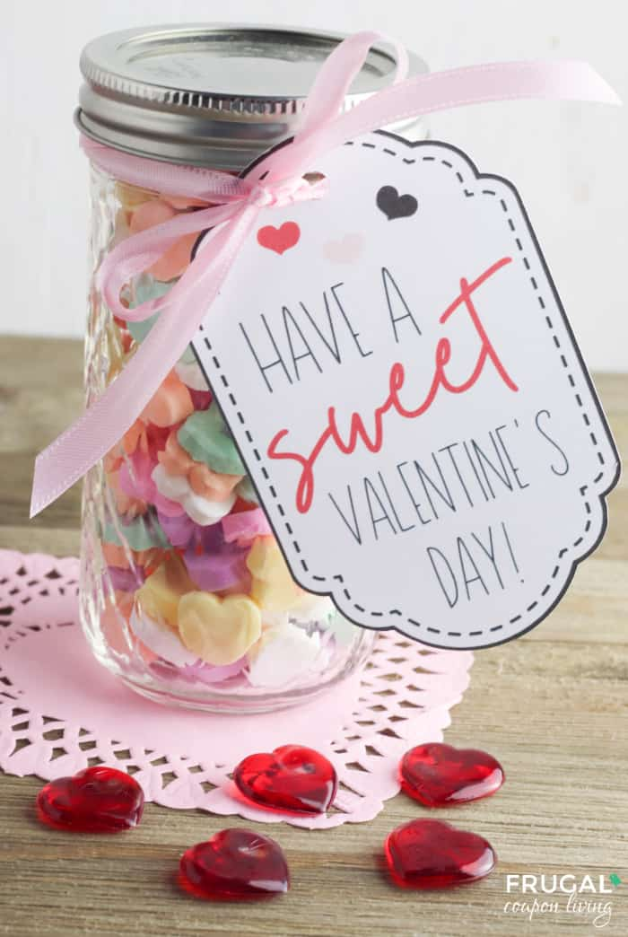 Mason Jar Valentines with Valentine Gift Tags