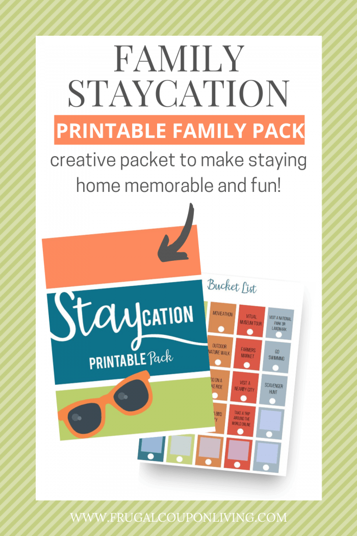 Boredom Busters & Fun Ideas for a Staycation at Home Printable Planner