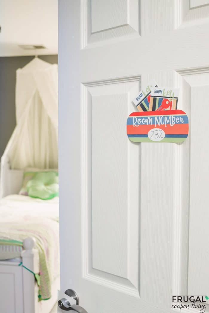 Printable Room Number for a Stay at Home Vacation