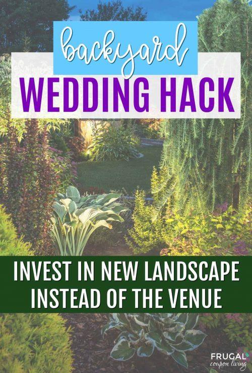 Backyard Wedding Hack | Frugal Tip Save on Venue & Invest in Landscape