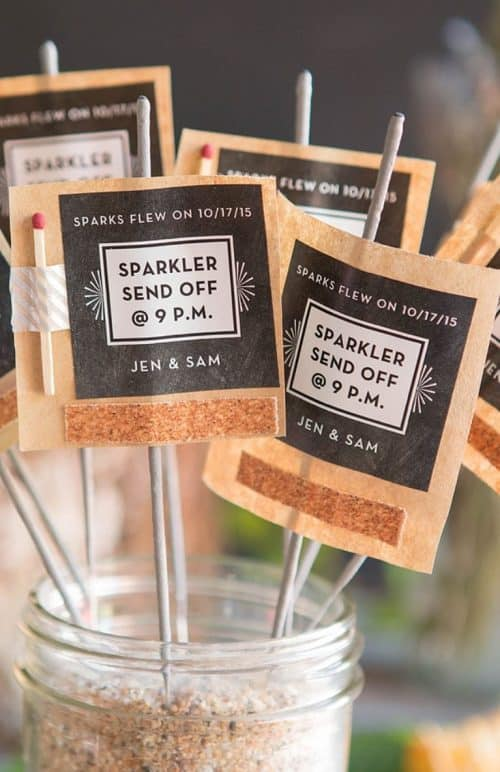 DIY Wedding Sparklers Printable + Cheap Wedding Ideas to Save Money