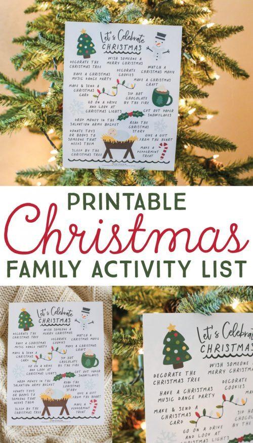 Christmas Bucket List Printable PDF + Bucket List Templates