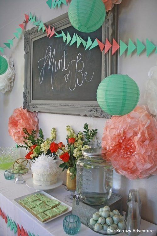 Mint to Be Adoption Party Theme & Decor