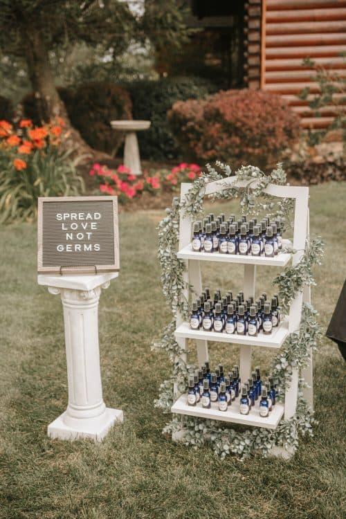 Spread Love Not Germs Wedding Ideas + Cheap Weeding Favors Ideas
