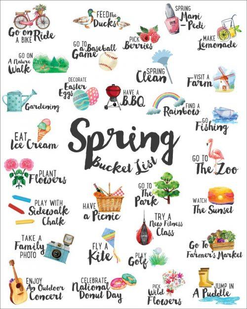 Spring Bucket List Printables + Year Round Buck List Ideas