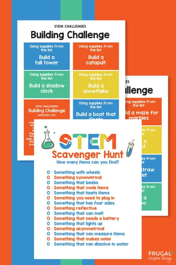 STEM Printables - STEM Building Challenge and STEM Scavenger Hunt