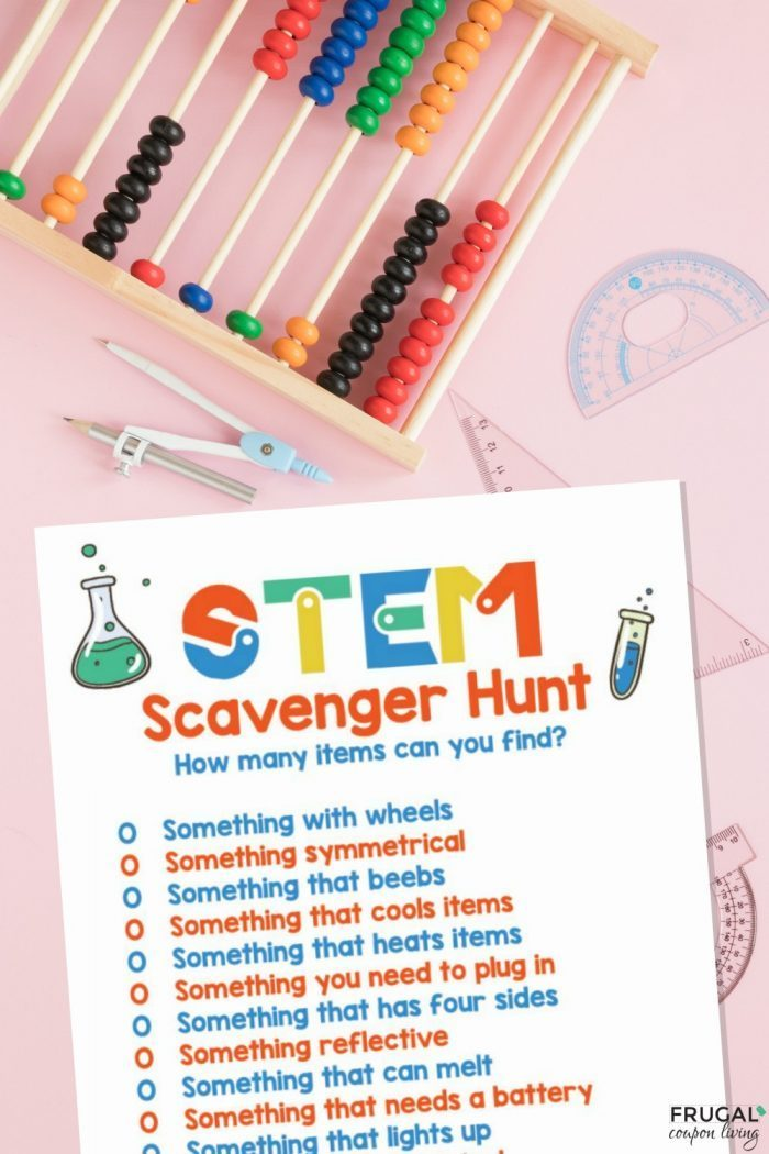 STEM Challenges Scavenger Hunt for Kids Printables PDF