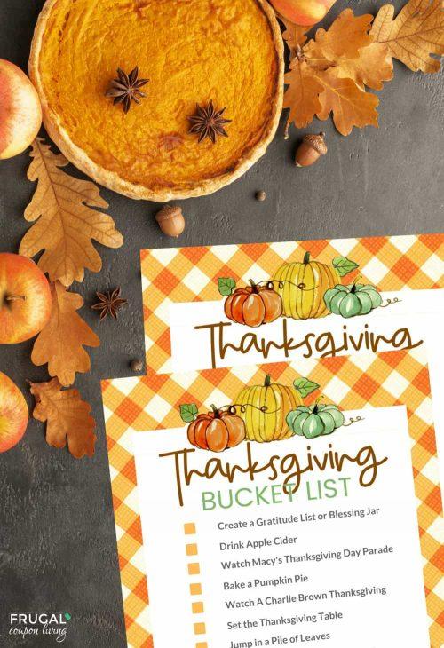 Thanksgiving Bucket List Ideas + Bucket List Printables