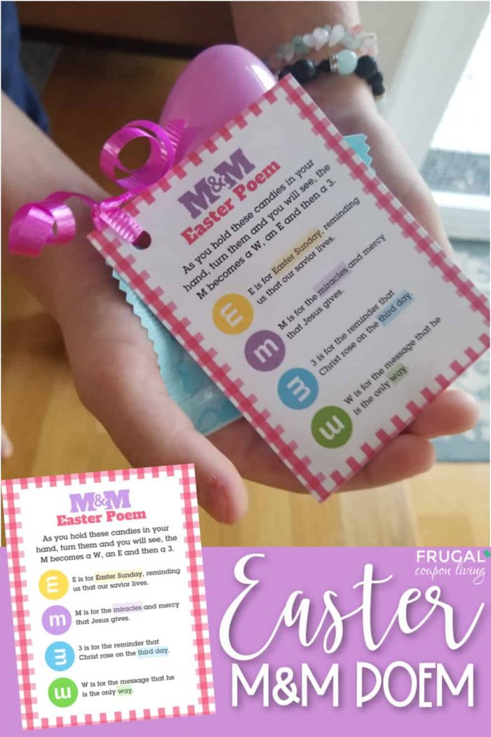 M&M Easter Poem + Printable Easter Gift Tag