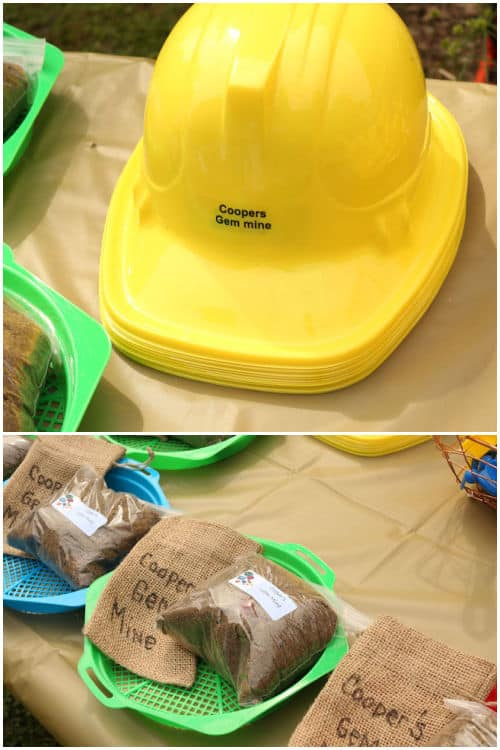 Yellow Plastic Construction Hats Mine Party Decor & Rocking Rock Party Favors