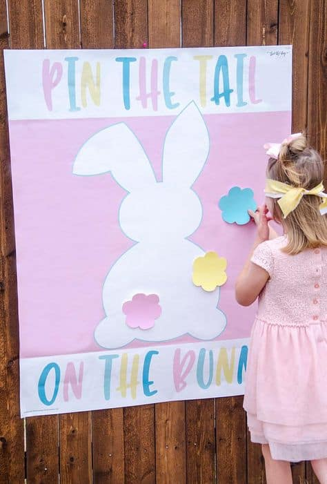 Pin the Tail on the Bunny + Easter Games for Kids