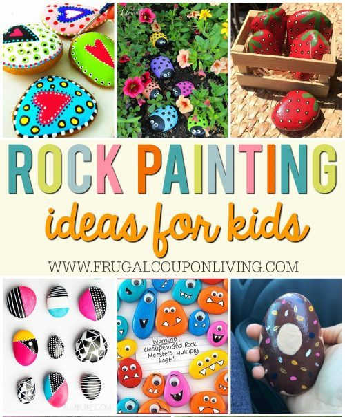 My Town Rocks Rock Painting Ideas + Rock Party Ideas