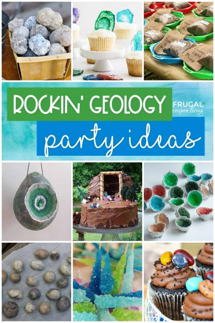 Geology Party Ideas | Gem Mining, Geodes, Rock Candy & More