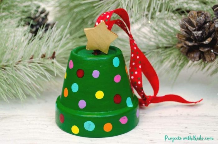 Christmas Tree Ornaments and Clay Pot Craft Ideas