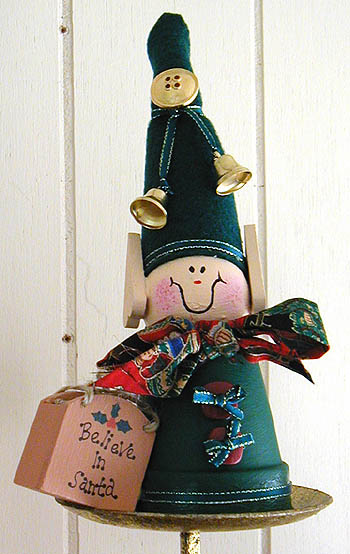 Elf Clay Pot Decoration Ideas for Christmas