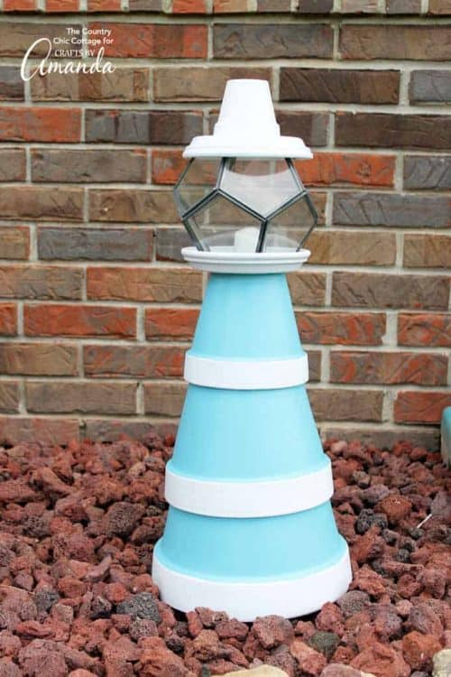 Clay Pot Lighthouse | Clay Pot Craft Ideas