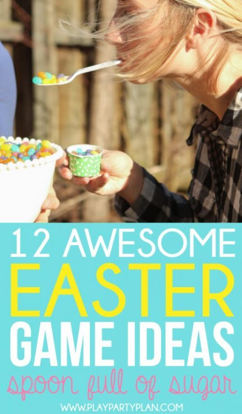 Easter Minute to Win It Jelly Bean Balance and More Easter Games for Families or Parties