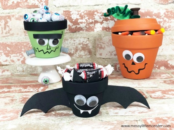 Terracotta Clay Pot Crafts | Bat, Monster & Pumpkin Halloween Decor