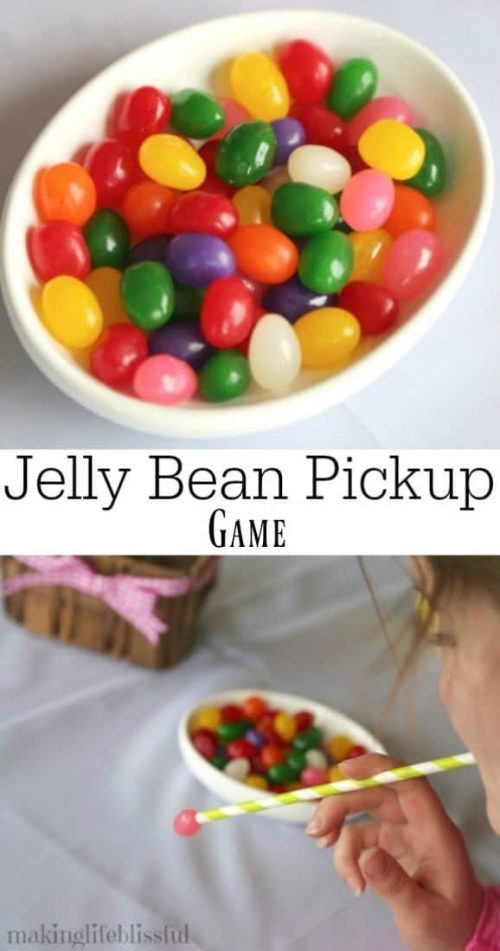 Jelly Bean Pickup and More Kids Easter Games for Spring