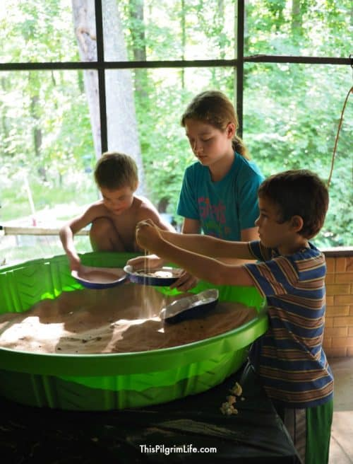 Plastic Pool Gem Mine Dig + Rock Birthday Party Ideas