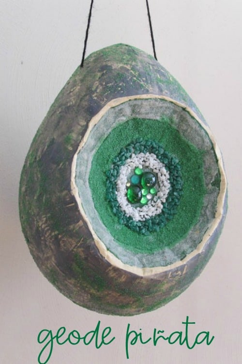 Rocking Good Time Rock Party Ideas | Green Agate Geode Pinata