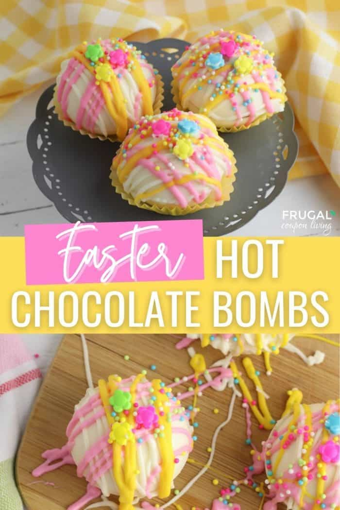 Easter Hot Chocolate Bombs with Surprise Marshmallows