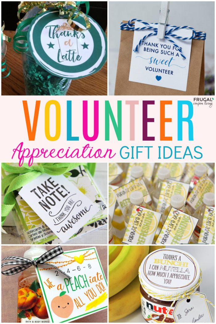 a collage of volunteer appreciation gift ideas for national volunteer week