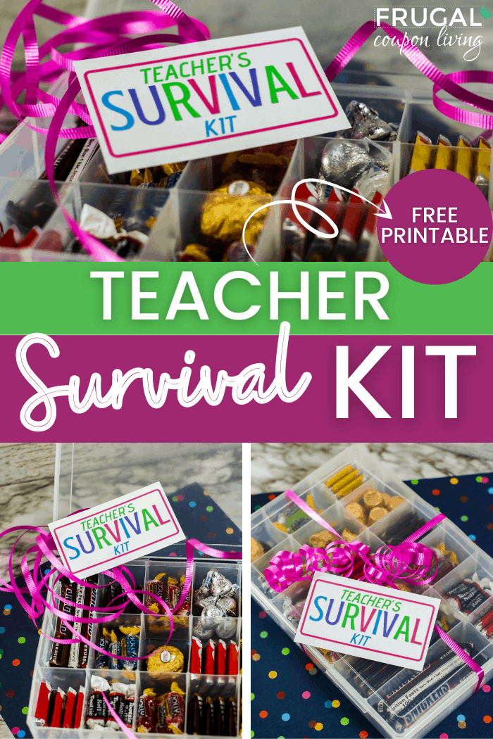 Teacher Survival Kit Gift and Printable Frugal Coupon Living