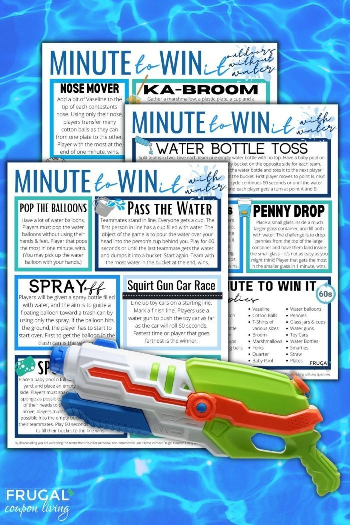 outdoor games with water