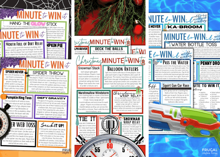 Themed Minute to Win It Games