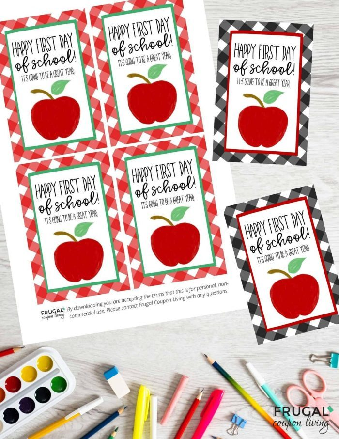 happy first day of school gift tag for teachers