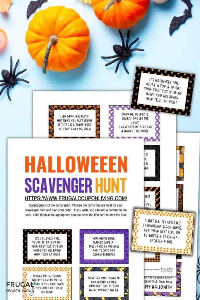 Halloween scavenger hunt activities for kids