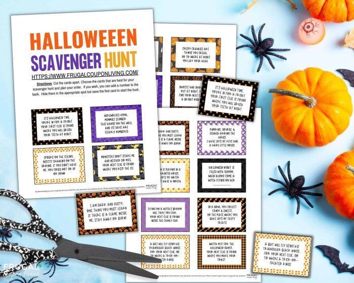 Halloween Scavenger Hunt Frugal Coupon Living etsy