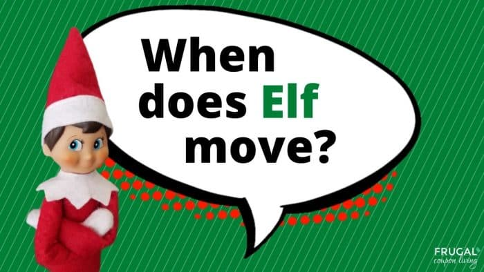 Elf Questions - When does the Elf on the Shelf move?