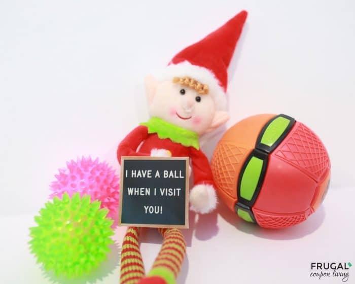 Elf on the shelf ideas with balls