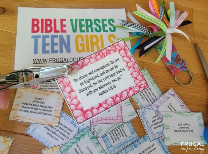 hole punch bible verse cards