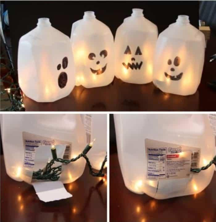 milk jug halloween ghost craft