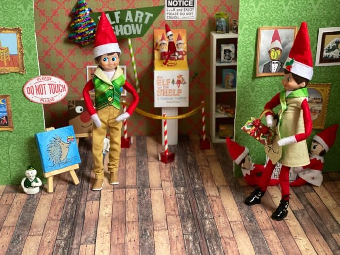 Art Museum Elf on the Shelf Idea