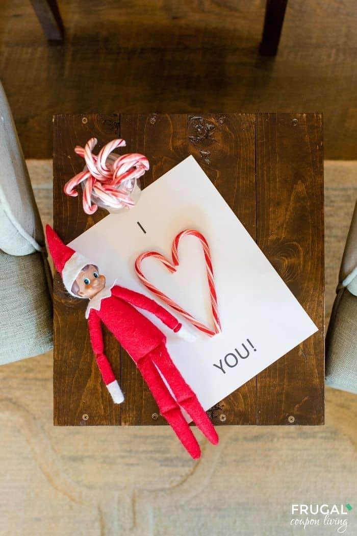 Elf on the Shelf Candy Cane printable