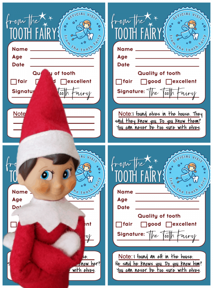 Tooth Fairy Note Printable