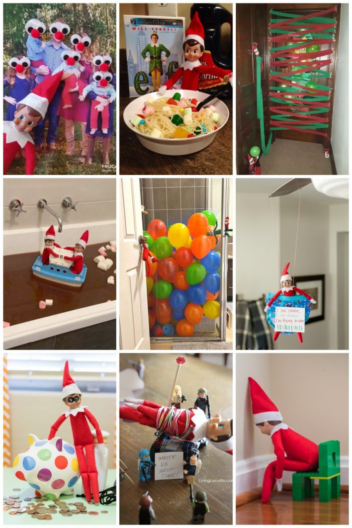 Mischief Elf on the Shelf Ideas