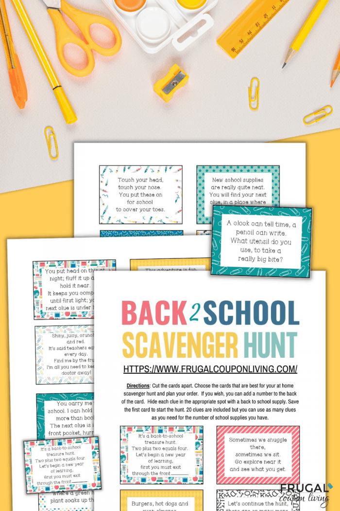 back to school scavenger hunt for kids
