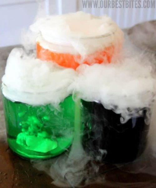 Mad Science DIY Potion Beverage with Kool-Aid and Dry Ice