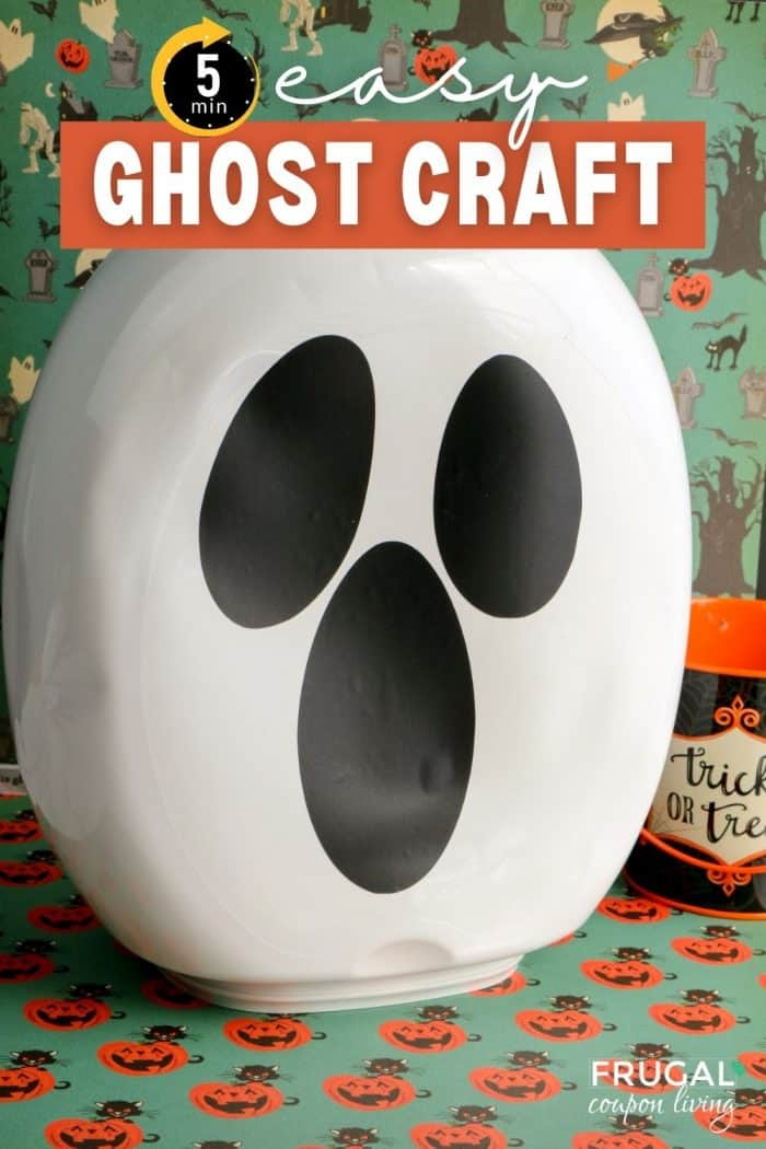 Easy Ghost Halloween Craft for Adults