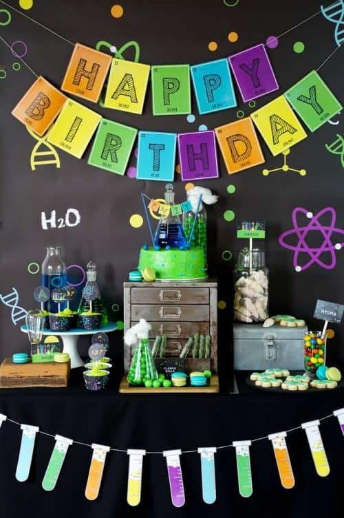 How to Decorate a Mad Scientist Party Table