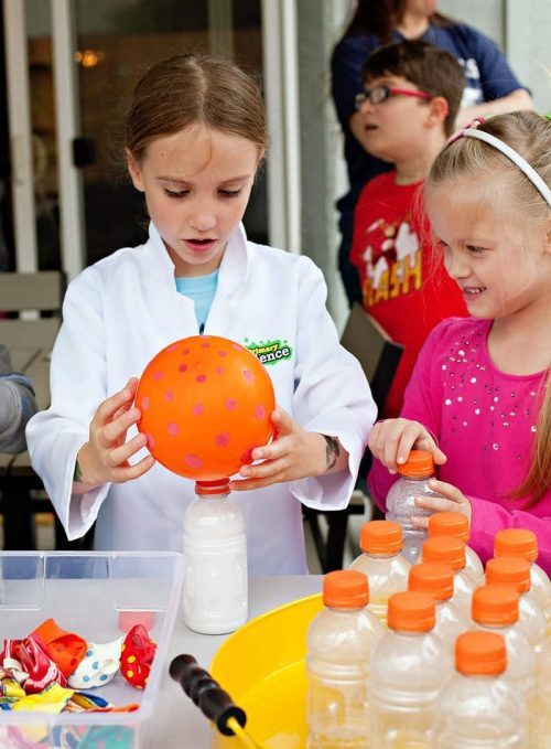 balloon water bottle Science experiment for Kids Mad Science Party
