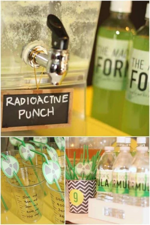 Mad Scientist Party Drinks Radioactive Punch