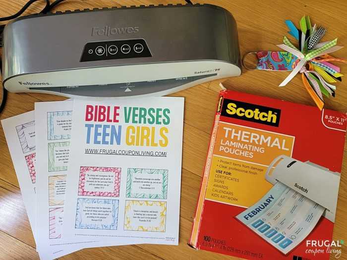 supplies for memory verse craft