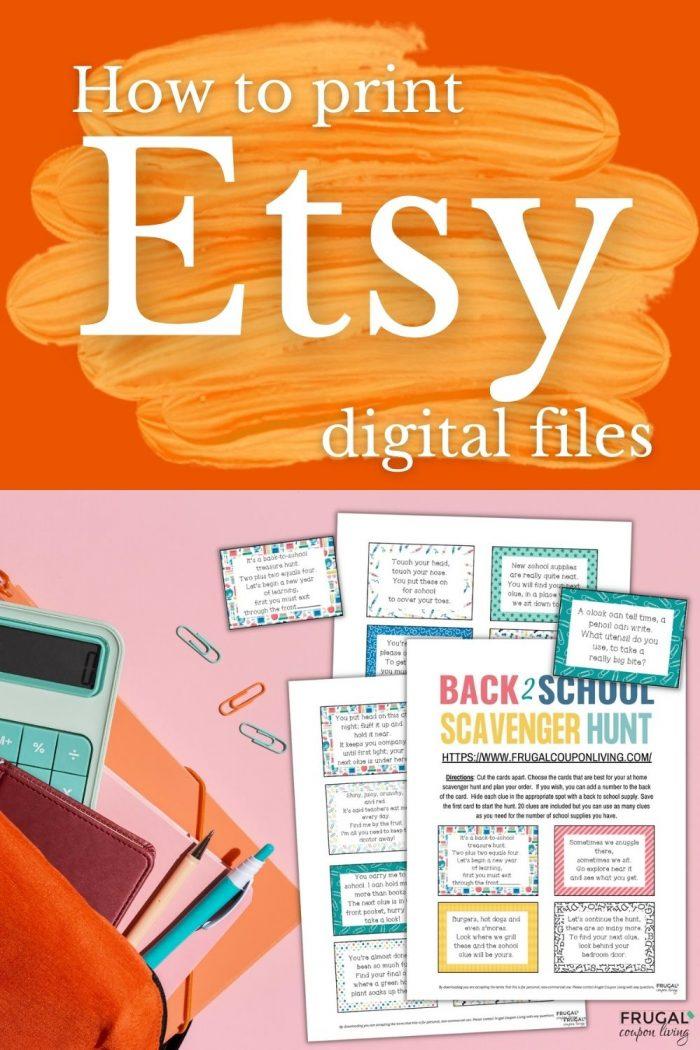 printing Etsy digital downloads